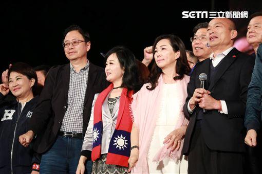 韓國瑜、李佳芬 記者林士傑攝影