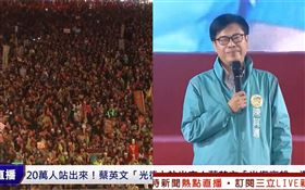 蔡英文鳳山爆滿!陳其邁上台「高雄人暴動」:港都市長回歸
