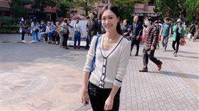 前「甜心主播」郭惠妮今一早完成投票。(圖/翻攝自郭惠妮臉書)