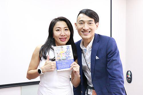 會後,王冠翔總經理親筆簽名域動人的書籍及寫下一句勉勵的話,增加域動人生活信心及力量!!