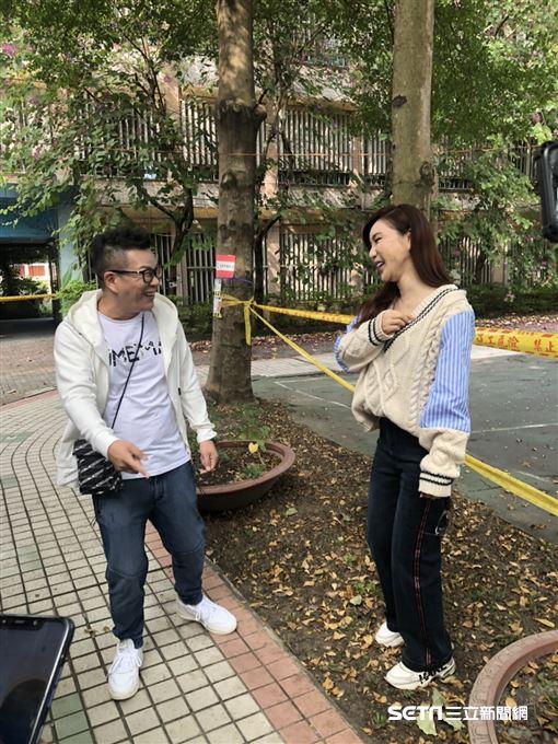 利菁和沈玉琳投票(記者林芷卉攝影)