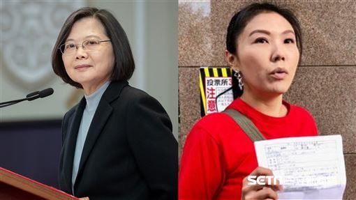 蔡英文、劉樂妍圖翻攝自蔡英文臉書、資料照