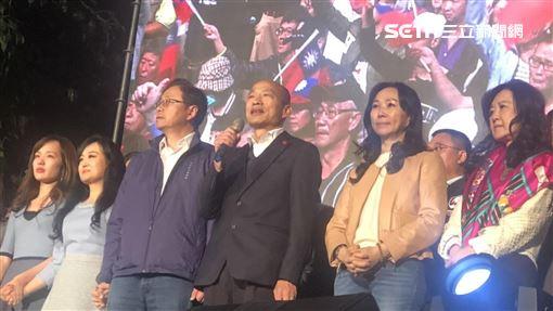 韓國瑜上台發表敗選感言(林恩如攝)