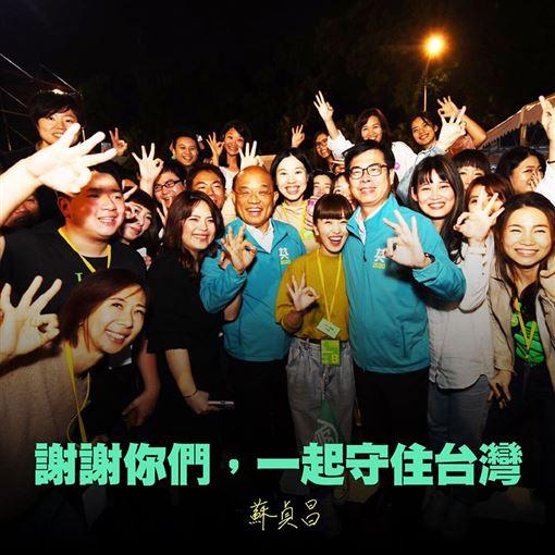 蘇貞昌,自由,民主,台灣,2020,蔡英文