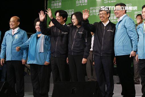 2020總統大選蔡英文勝選之夜。(圖/記者林聖凱攝影)