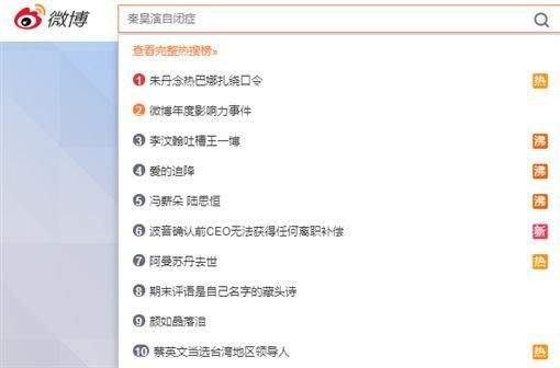 蔡英文連任,登中國微博熱搜