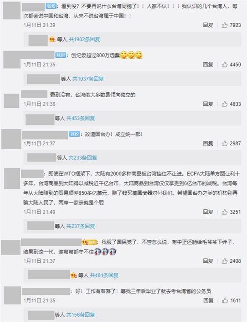蔡英文當選引起中國網民熱議