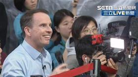 BBC超狂提問!蔡英文女翻譯愣2秒 開啟官方模式(翻攝畫面)