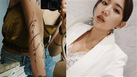 陳艾琳寫出第9個新刺青的意義。(圖/翻攝自陳艾琳IG)