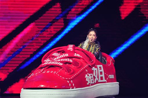 謝金燕,2020超級巨星紅白藝能大賞,美腿,新台幣,新年。圖/台視提供