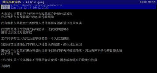 軍公教,年金,真相,PTT 圖/翻攝自PTT