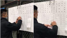 苗栗縣頭份開票所,遭議員助理拍下,質疑「開票過程詭異」。(圖/翻攝自周訓宇臉書)