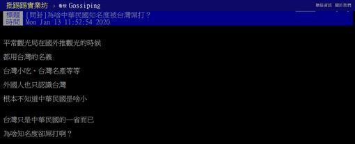 台灣,中華民國,知名度,名稱,PTT 圖/翻攝自PTT
