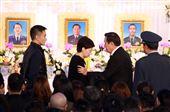 前總統馬英九慰問殉職將士眷屬。(記者邱榮吉/攝影)
