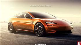 ▲Tesla Model S大改款預想圖(圖/翻攝自Carscoops)