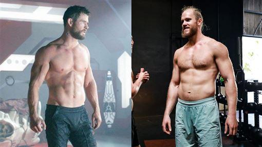 ▲大都會投手辛德加(Noah Syndergaard),季後練出8塊肌,身材直逼飾演『雷神』的克里斯漢斯沃。(圖/翻攝自MLB推特)