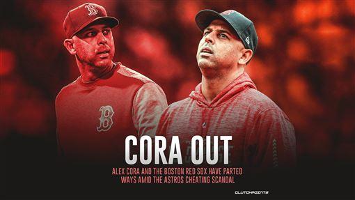 ▲紅襪總教練柯拉(Alex Cora)遭到開除。(圖/翻攝自ClutchpointsMLB推特)