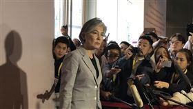 南韓外長康京和受訪南韓外交部長康京和2日在東協區域論壇場外接受媒體訪問。中央社記者呂欣憓曼谷攝 108年8月2日