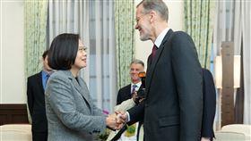 總統蔡英文接見「美國在台協會台北辦事處處長酈英傑」 圖/總統府提供