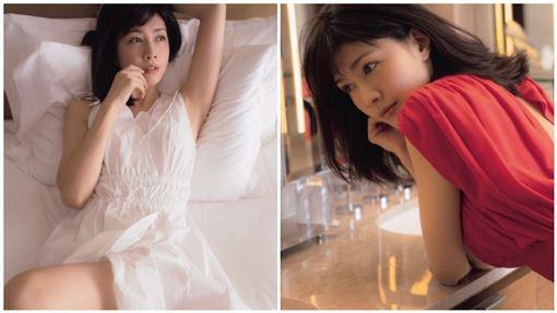 內田有紀,女星,凍齡,林志玲,賈靜雯(圖/翻攝自臉書、微博)
