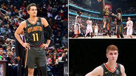 NBA/狂!3「小鷹」締造罕見紀錄 NBA,亞特蘭大老鷹,Trae Young,John Collins,Kevin Huerter 翻攝自推特
