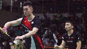 李洋與王齊麟晉級印尼羽球賽男雙16強台灣男雙組合李洋(右)與王齊麟(左)15日在BWF世界羽球巡迴賽超級500印尼大師賽晉級男雙16強。中央社記者石秀娟雅加達攝  109年1月15日