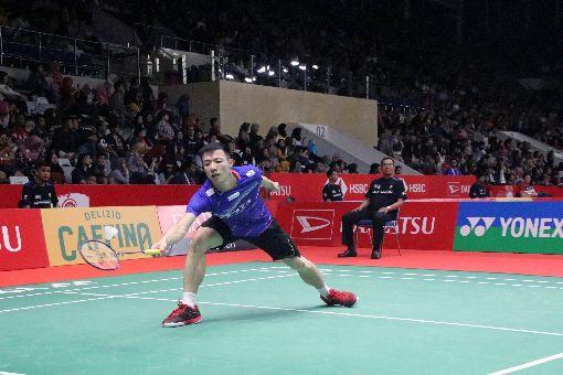 王子維印尼羽球大師賽輕取泰國好手台選羽球選手王子維15日在印尼羽球大師賽輕取泰國好手王高倫。王子維花41分鐘就拿下勝利。中央社記者石秀娟雅加達攝 109年1月15日