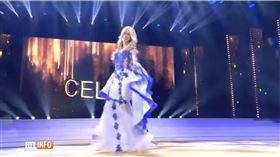 冠軍,比賽,內衣,比利時,跌倒。(圖/翻攝自Concursos de Belleza - Matheus YouTube)