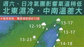 氣象局,天氣,冷氣團,台灣颱風論壇 天氣特急,大陸冷氣團 圖/翻攝自台灣颱風論壇 天氣特急