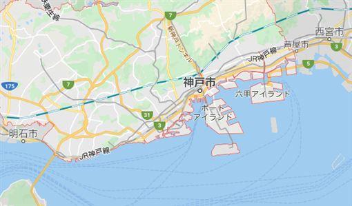 日本,阪神大地震,25週年,罹難者家屬,默禱追悼(google map)