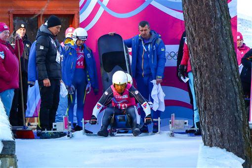 ▲楊仕勛、葉孟喆在冬季青年奧運雙人雪橇。(圖/中華奧會提供)