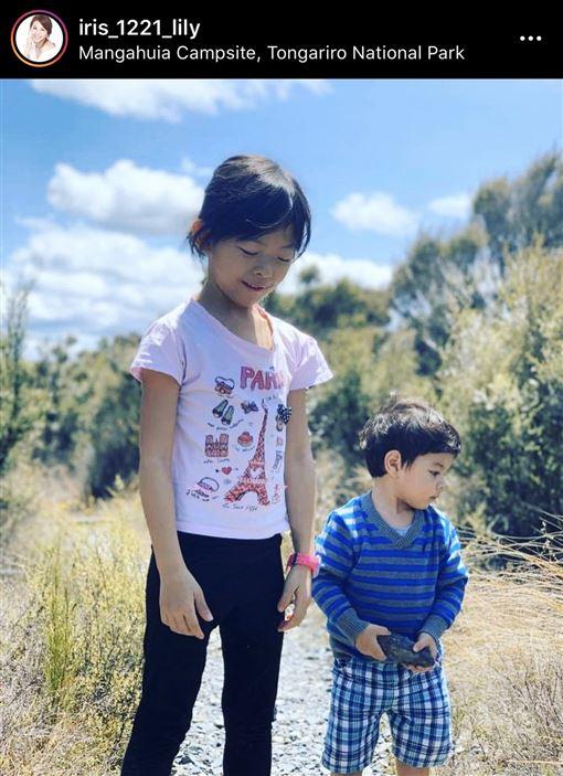 艾莉絲和老公孩子出遊紐西蘭 翻攝iG