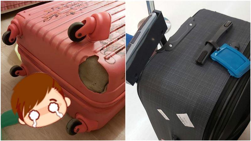出國行李遭摔斷「氣炸買新的」…抵台後再淚崩:地勤也看傻