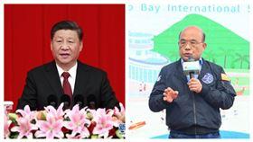中國國家主席習近平,行政院長蘇貞昌。(組合圖)