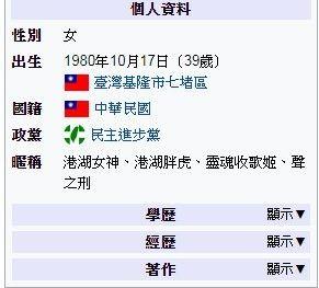 高嘉瑜,唱歌,維基百科,聲之刑,胖虎(圖/翻攝自PTT)