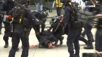 港天下制裁集會 遭警追捕、射催淚彈
