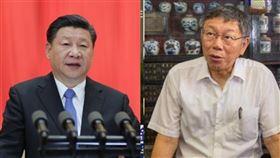 中國領導人習近平與緬甸重申一中聲明,柯文哲回擊。(組合圖/資料照)