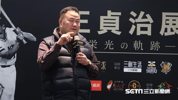 趙士強出席王貞治棒球展。(圖/記者王怡翔攝影)