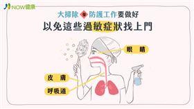 名家專用/NOW健康/大掃除戴上口罩、眼罩、手套才能降低惱人的過敏症狀。(勿用)