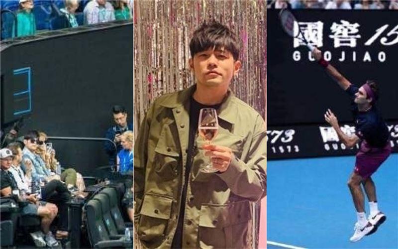 澳網驚見台灣巨星 貼嫩妻直盯費德勒