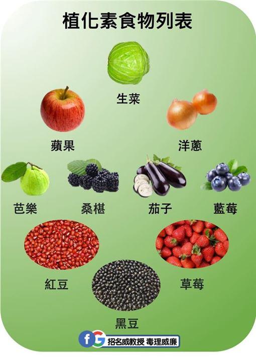 植化素食物(翻攝自招名威教授 毒理威廉臉書)