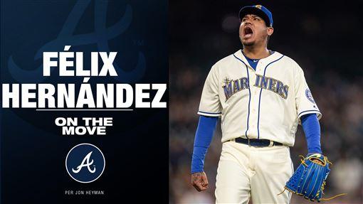 ▲赫南德茲(Felix Hernandez)小聯盟約加盟勇士。(圖/翻攝自MLB推特)