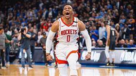 NBA/狂!威少完成「滿貫」大三元 NBA,休士頓火箭,Russell Westbrook,大三元 翻攝自推特