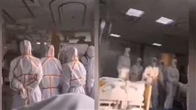 武漢隔離病房畫面曝光!肺炎男喊「沒什麼」網譙:死到臨頭(圖/翻攝自RFA自由亞洲粵語YouTube)