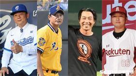 中華職棒4隊總教練。(合成圖)