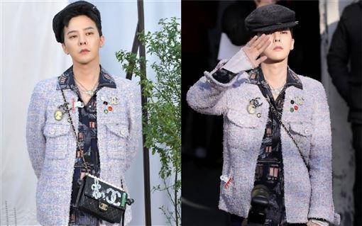 BIGBANG隊長G-Dragon(簡稱GD)出席香奈兒秀宇日本藝人小松菜奈(翻攝自微博)