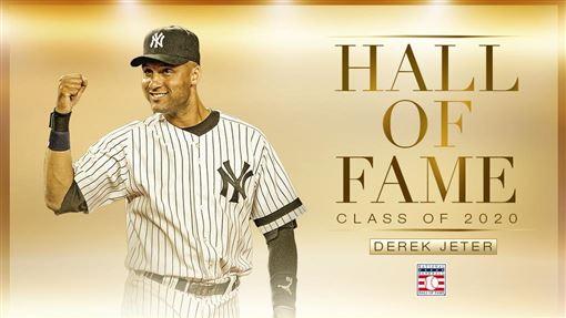 ▲基特(Derek Jeter)入選名人堂。(圖/翻攝自MLB推特)