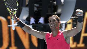 ▲納達爾(Rafael Nadal)澳網首輪晉級。(圖/美聯社/達志影像)