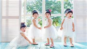 四胞胎,女嬰,女兒,母女(受訪者提供)