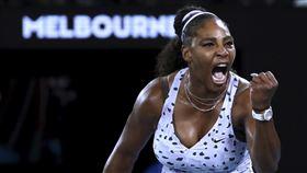 ▲小威廉斯(Serena Williams)直落2晉級澳網32強。(圖/美聯社/達志影像)